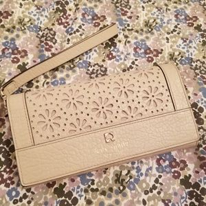 Handbags - Kate Spade Beige Wallet/Wristlet